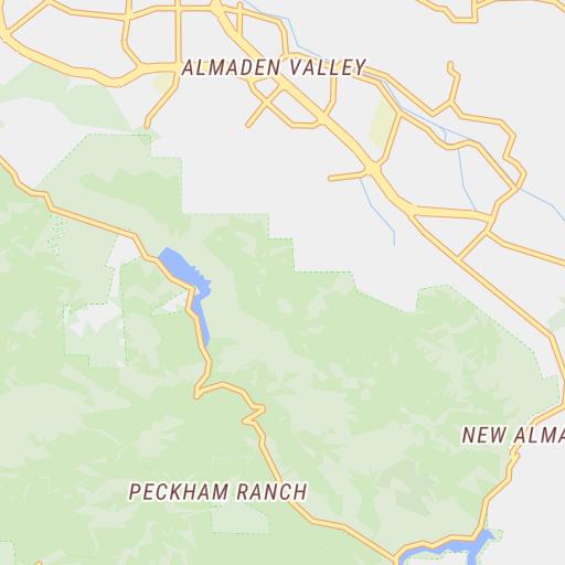 Almaden Quicksilver County Park Guide Map - Santa Clara ...